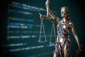 Lady justice holding scales.